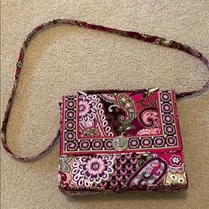Vera Bradley Structured Satchel Crossbody + strap